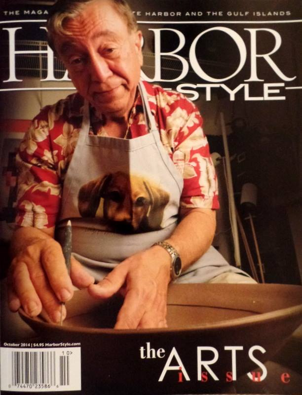2014 Harbor Style Magazine cover- Featured Artist Angelo Pescatore