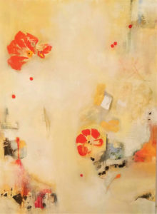 Gina Battle: abstract painting in yellows and oranges