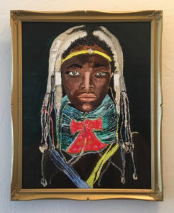 painting of an African girl by Lee Blizard
