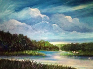 Larry Palmer: painting of an estuary