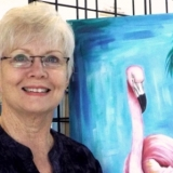 Judy Cowan Lee: Pretty in Pink Flamingo