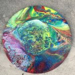 colorfully painted lazy susan