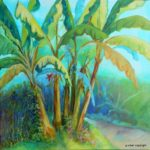 acrylic painting of Banana Trees by Gloria Urban